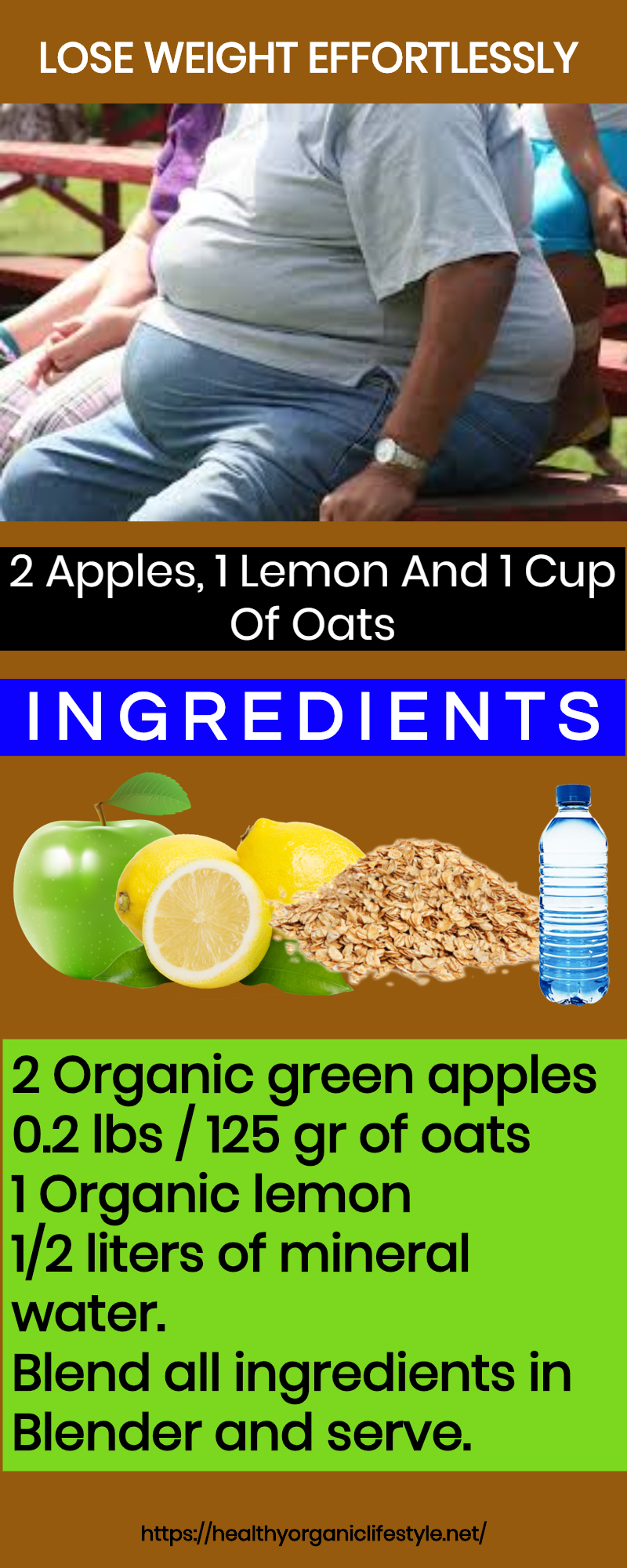 2 Apples, 1 Lemon And 1 Cup Of Oats