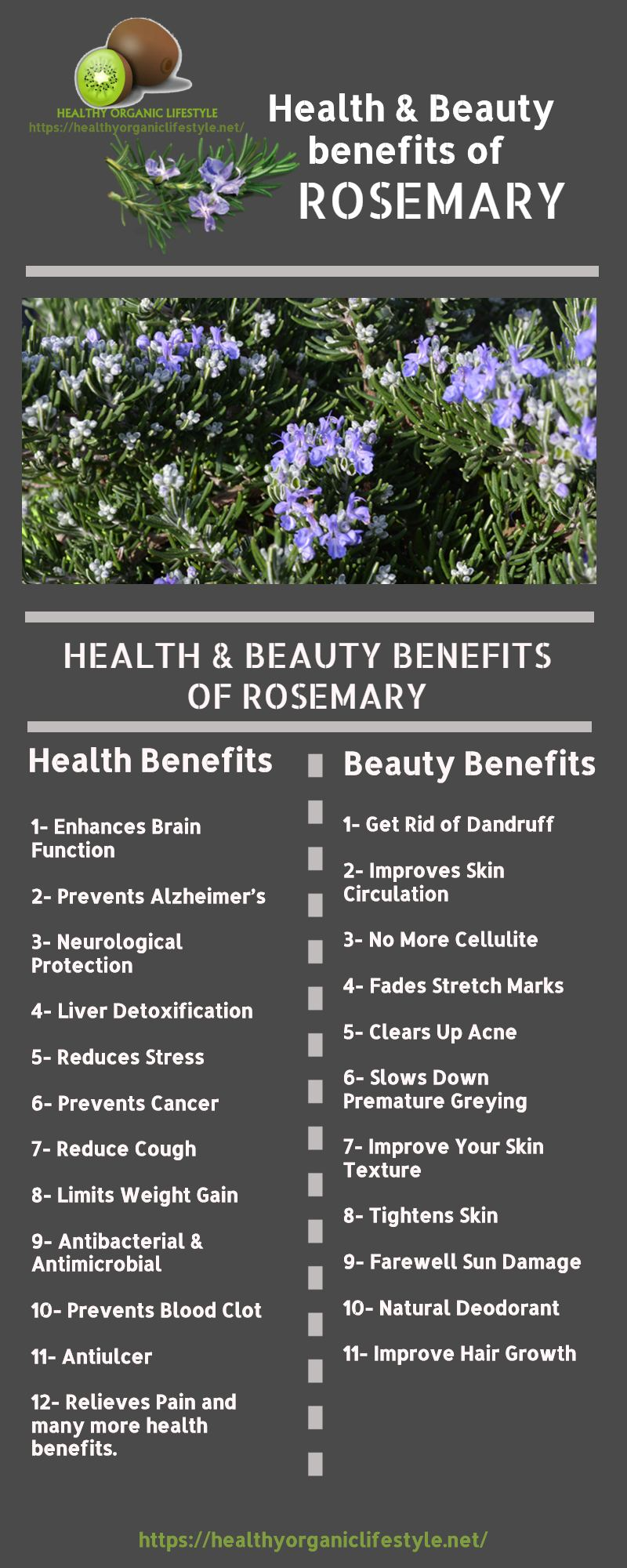 Health and beauty benefits of Rosemary